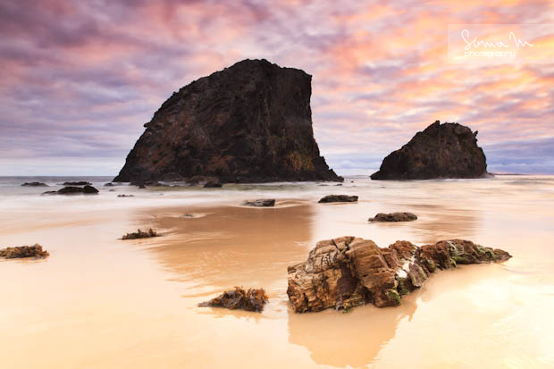 Sunrise over glasshouse rocks, Narooma, NSW